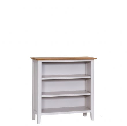 Newhaven Grey Painted Small Wide Bookcase